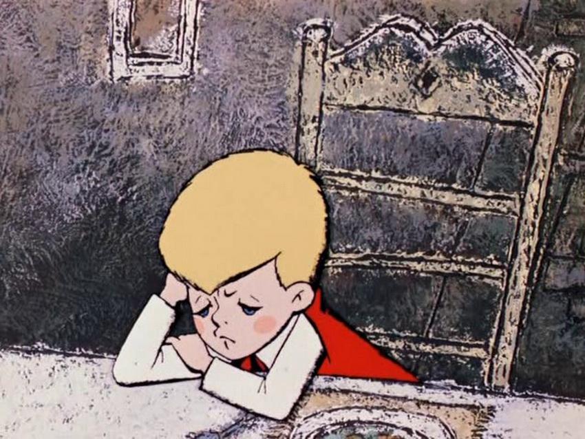 Грустный Малыш из мультфильма про Карлсона